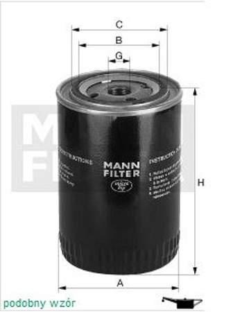 Filtr oleju MANN Audi A3 1.6.