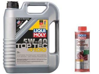 Olej Liqui Moly 5W40 Top Tec 4100  5L + Diesel Spulung !