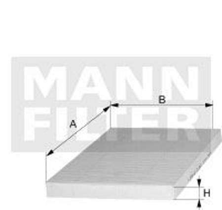 Filtr kabinowy MANN Audi TT I