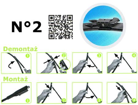 Płaskie wycieraczki Silencio XTRM VOLVO XC70